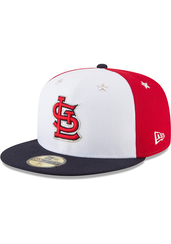 New Era St Louis Cardinals Mens Navy Blue 2018 All Star 59FIFTY Fitted Hat - Image 1