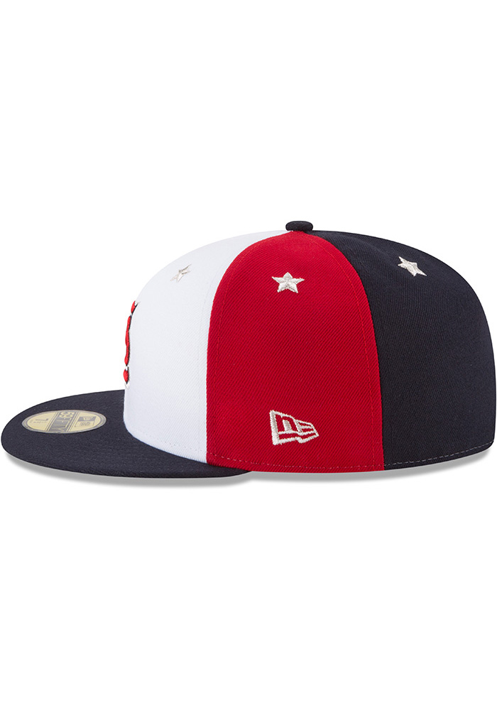 New Era St Louis Cardinals Mens Navy Blue 2018 All Star 59FIFTY Fitted Hat - Image 4