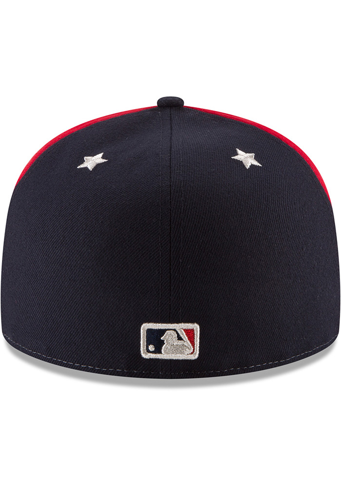 New Era St Louis Cardinals Mens Navy Blue 2018 All Star 59FIFTY Fitted Hat - Image 5