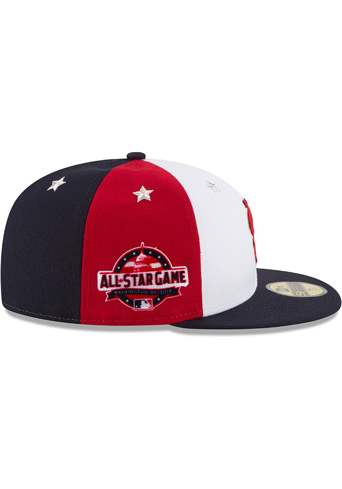 New Era St Louis Cardinals Mens Navy Blue 2018 All Star 59FIFTY Fitted Hat - Image 6