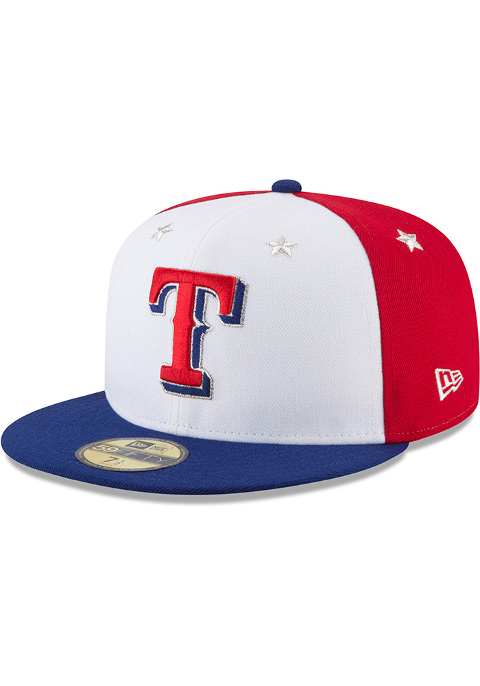 New Era Texas Rangers Mens Navy Blue 2018 All Star 59FIFTY Fitted Hat - Image 1