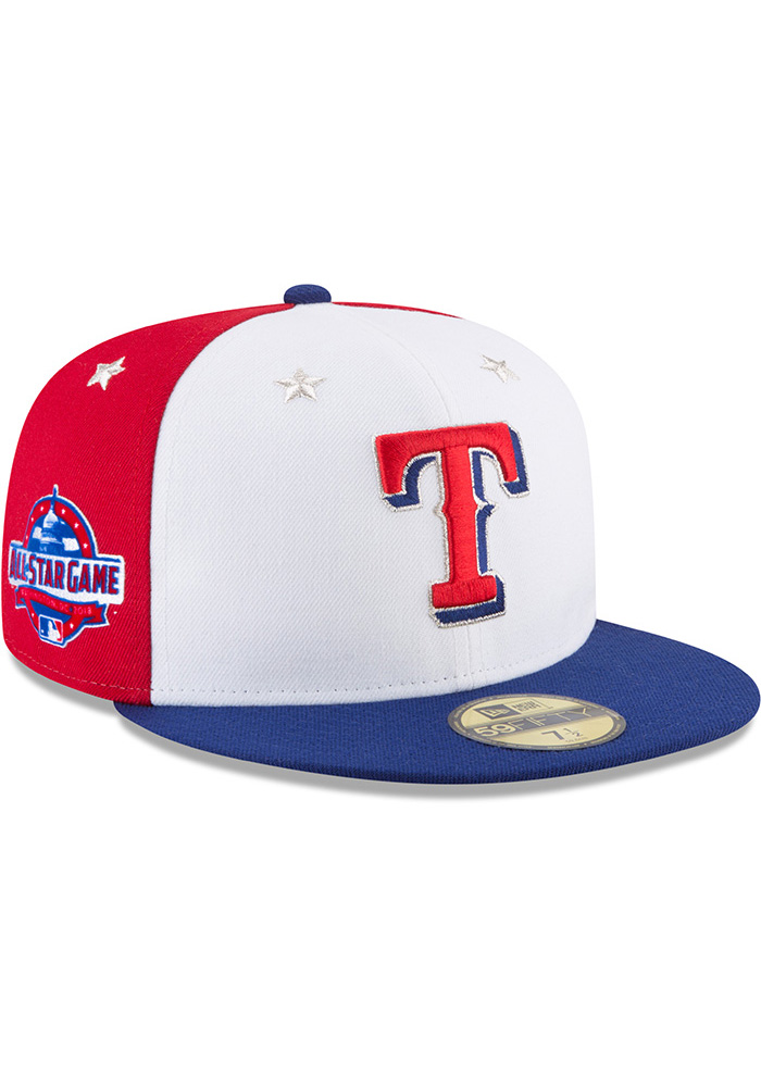 New Era Texas Rangers Mens Navy Blue 2018 All Star 59FIFTY Fitted Hat - Image 2