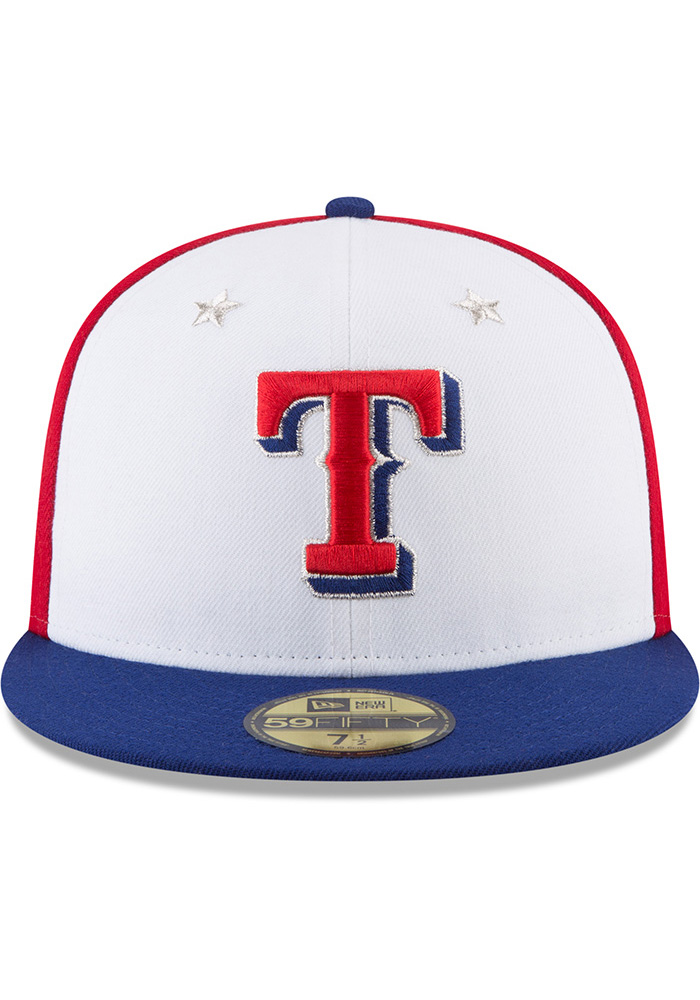 New Era Texas Rangers Mens Navy Blue 2018 All Star 59FIFTY Fitted Hat - Image 3