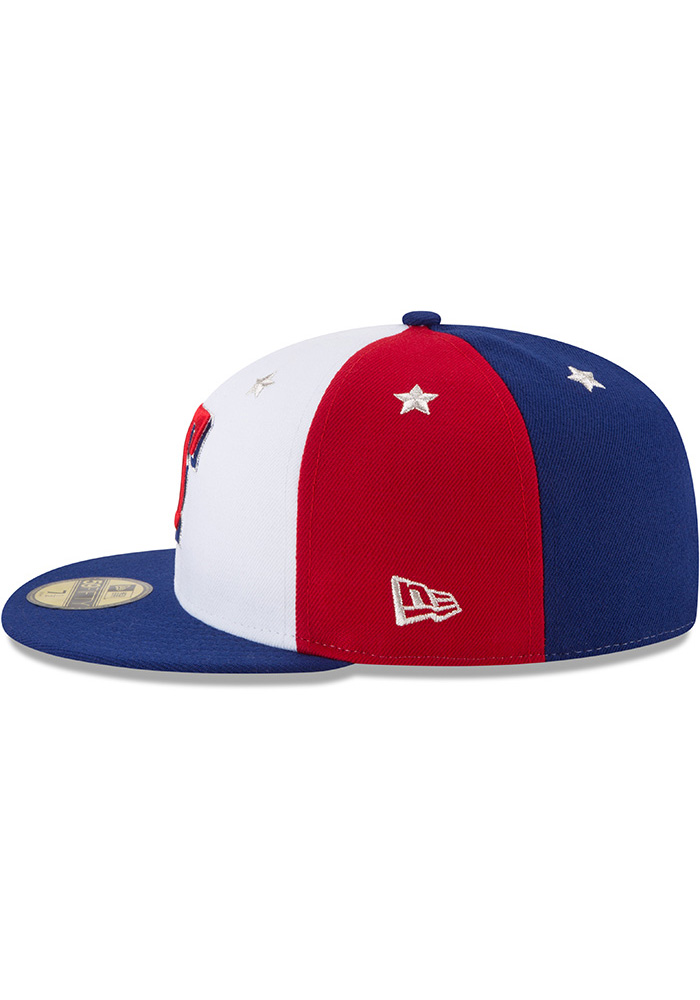 New Era Texas Rangers Mens Navy Blue 2018 All Star 59FIFTY Fitted Hat - Image 4