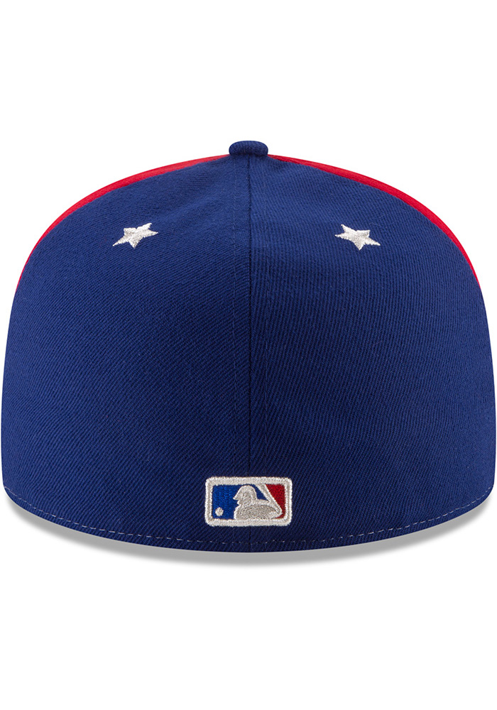 New Era Texas Rangers Mens Navy Blue 2018 All Star 59FIFTY Fitted Hat - Image 5