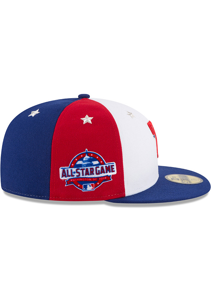 New Era Texas Rangers Mens Navy Blue 2018 All Star 59FIFTY Fitted Hat - Image 6