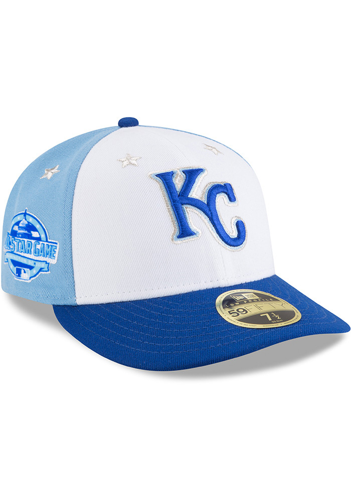 New Era Kansas City Royals Mens Blue 2018 All Star LP59FIFTY Fitted Hat - Image 2