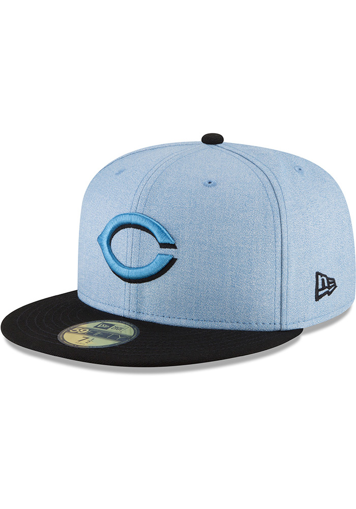 New Era Cincinnati Reds Mens Blue 2018 Father's Day 59FIFTY Fitted Hat - Image 1