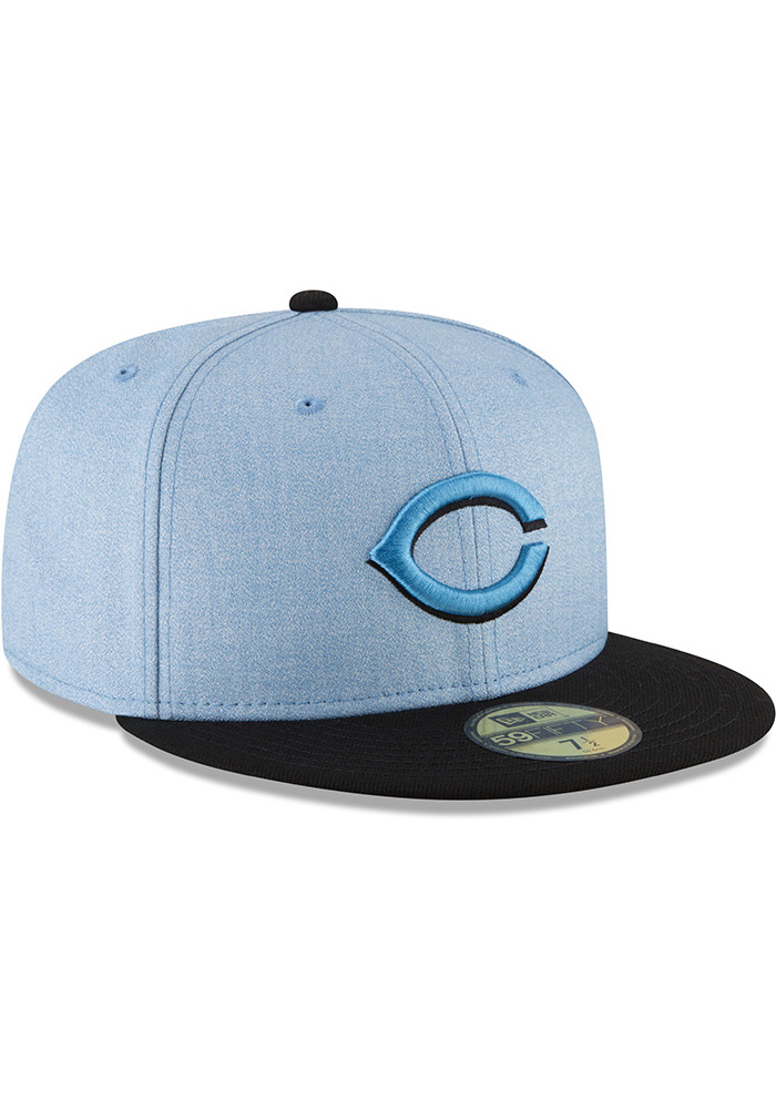 New Era Cincinnati Reds Mens Blue 2018 Father's Day 59FIFTY Fitted Hat - Image 2
