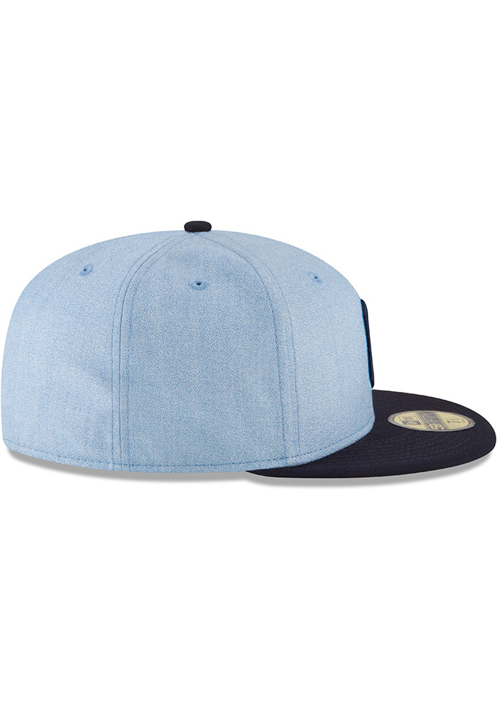 reputable site 748a0 43d4d ... authentic new era cleveland indians mens blue 2018 fathers day 59fifty  fitted hat image 6 5ccd0