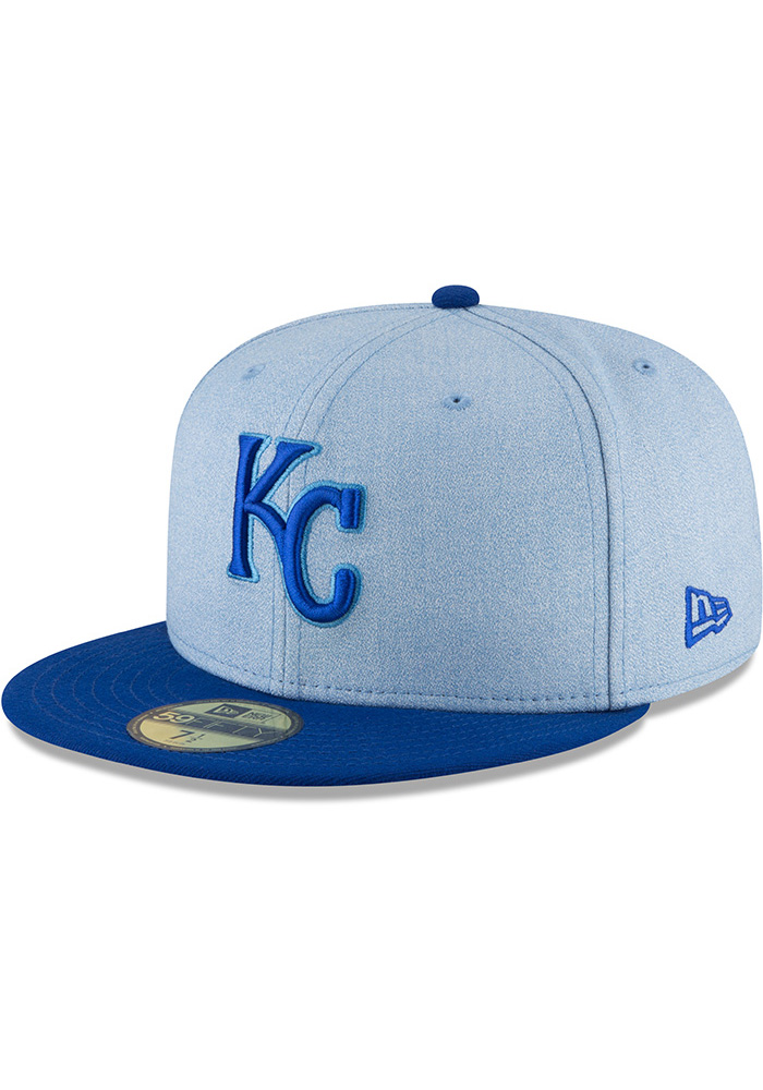 New Era Kansas City Royals Mens Blue 2018 Father's Day 59FIFTY Fitted Hat - Image 1