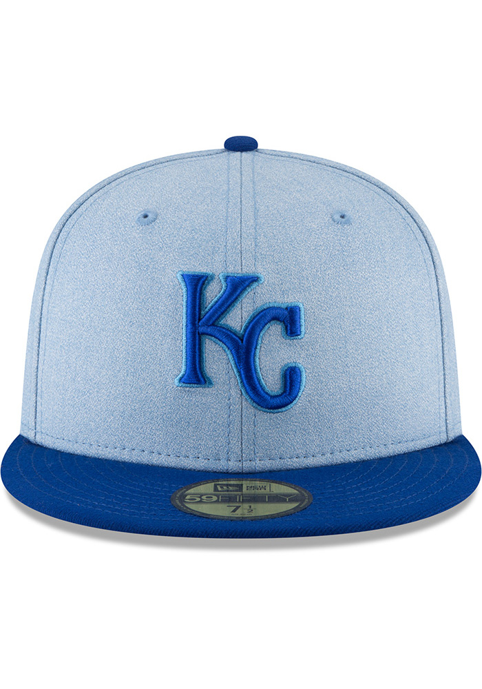 New Era Kansas City Royals Mens Blue 2018 Father's Day 59FIFTY Fitted Hat - Image 3