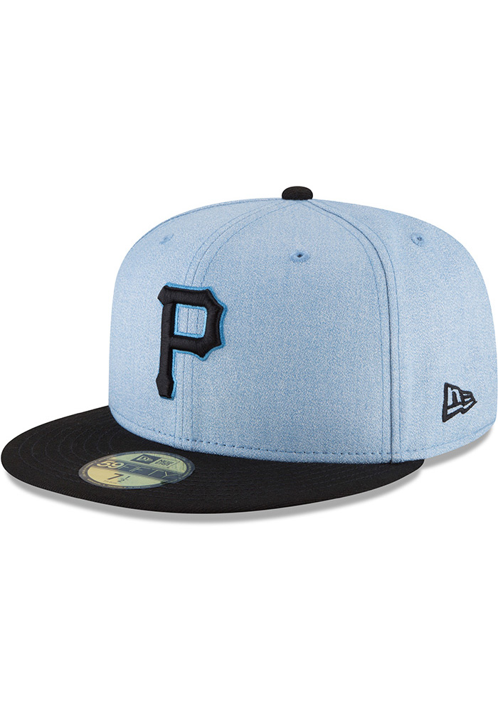 New Era Pittsburgh Pirates Mens Blue 2018 Father's Day 59FIFTY Fitted Hat - Image 1