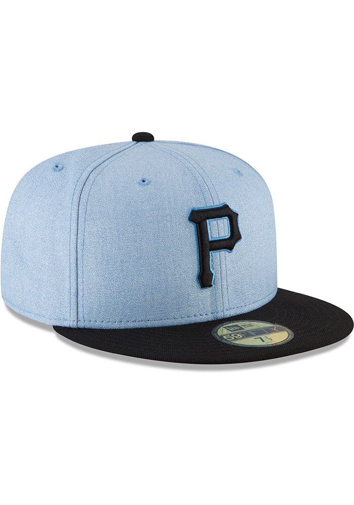 New Era Pittsburgh Pirates Mens Blue 2018 Father's Day 59FIFTY Fitted Hat - Image 2