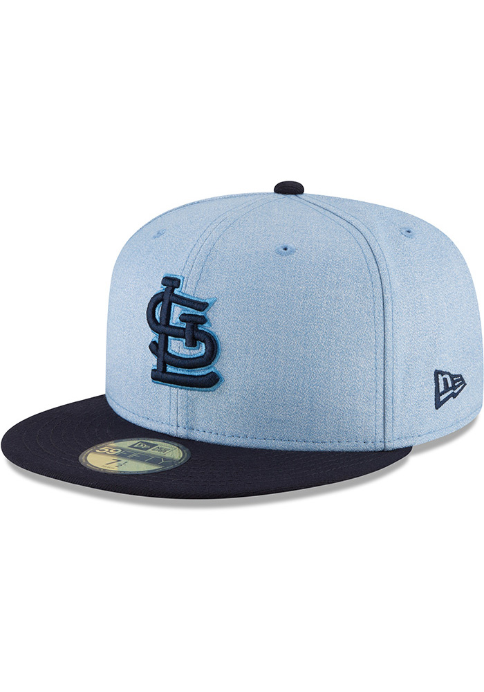 huge discount 33e5a 655ff ... 9twenty adjustable hat 2dc67 c4161  low cost new era st louis cardinals  mens blue 2018 fathers day 59fifty fitted hat image