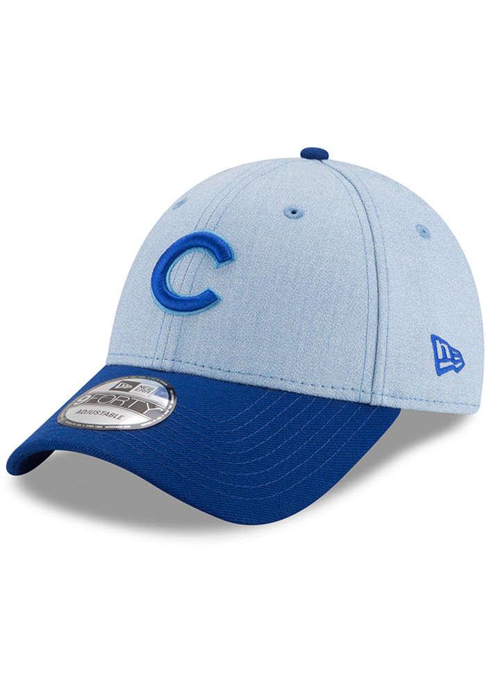 best cheap 1c4e9 19f96 New Era Chicago Cubs 2018 Father s Day 9FORTY Adjustable Hat - Blue - Image  1