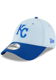 Kansas City Royals New Era 2018 Fathers Day 9FORTY Adjustable Hat - Blue
