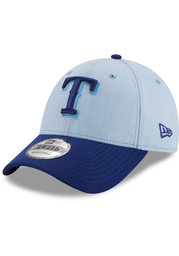 Texas Rangers New Era 2018 Fathers Day 9FORTY Adjustable Hat - Blue