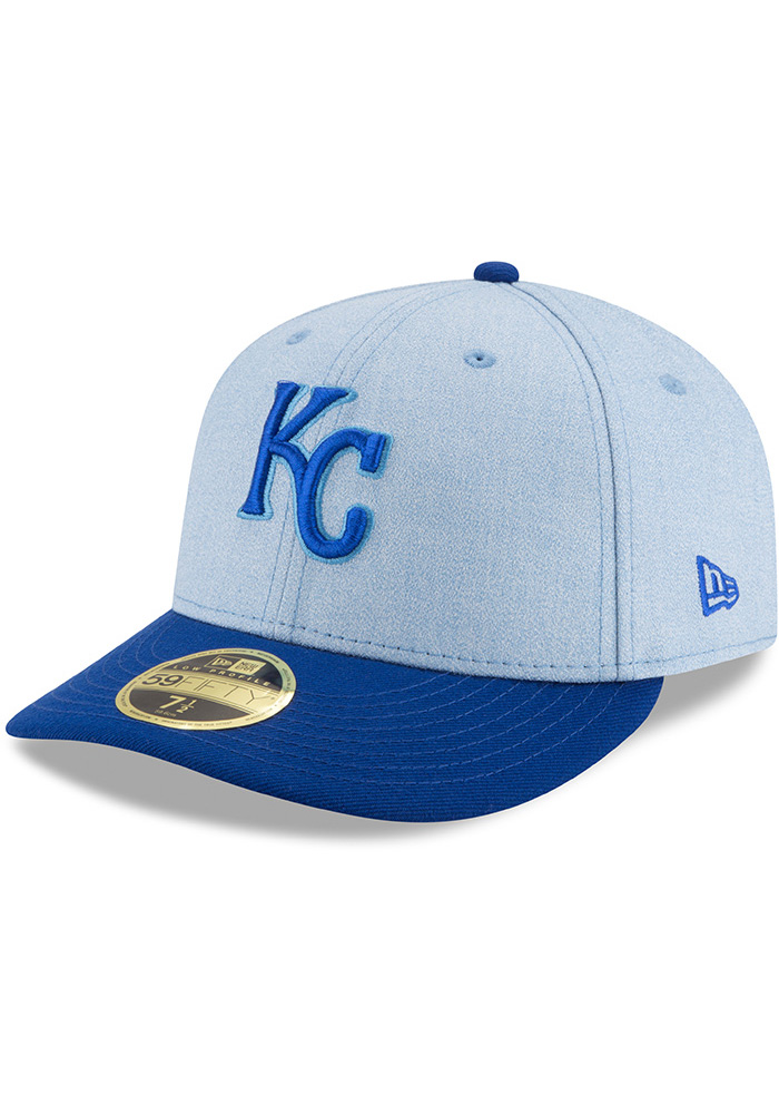 New Era Kansas City Royals Mens Blue 2018 Father's Day LP59FIFTY Fitted Hat - Image 1