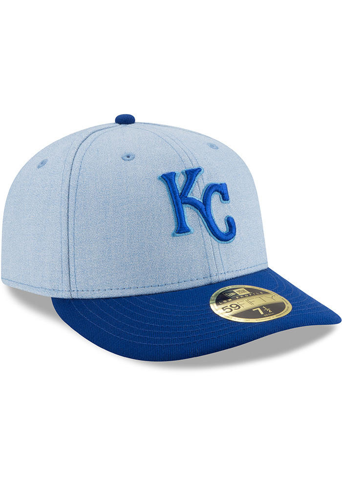 New Era Kansas City Royals Mens Blue 2018 Father's Day LP59FIFTY Fitted Hat - Image 2
