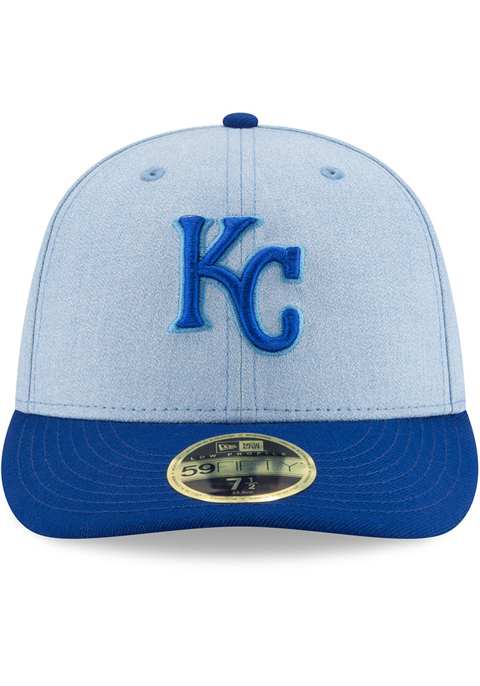 New Era Kansas City Royals Mens Blue 2018 Father's Day LP59FIFTY Fitted Hat - Image 3