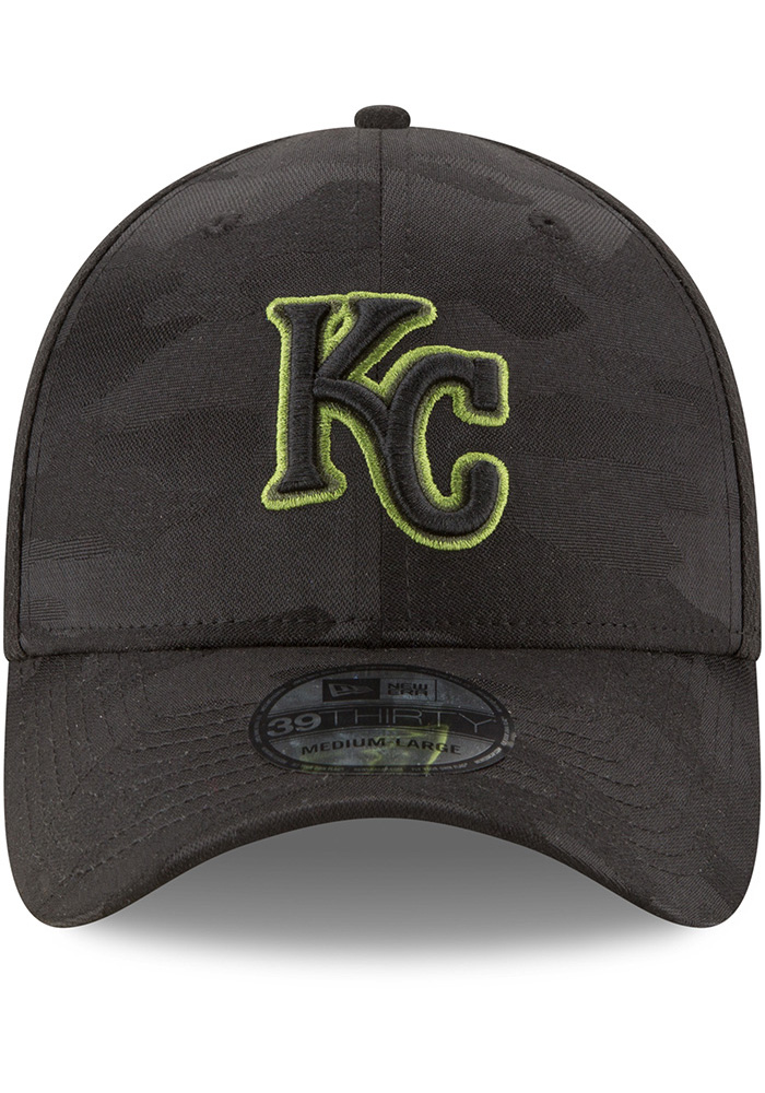 New Era Kansas City Royals Mens Black 2018 Memorial Day 39THRITY Flex Hat - Image 3