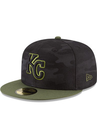 finest selection 83fc0 12fdb Kansas City Royals New Era Black 2018 Memorial Day 59FIFTY Fitted Hat