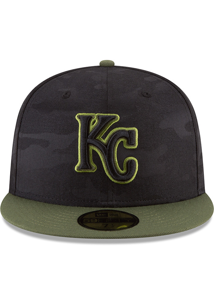New Era Kansas City Royals Mens Black 2018 Memorial Day 59FIFTY Fitted Hat - Image 3