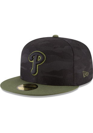 Philadelphia Phillies New Era Black 2018 Memorial Day 59FIFTY Fitted Hat f9cbe8a7c651