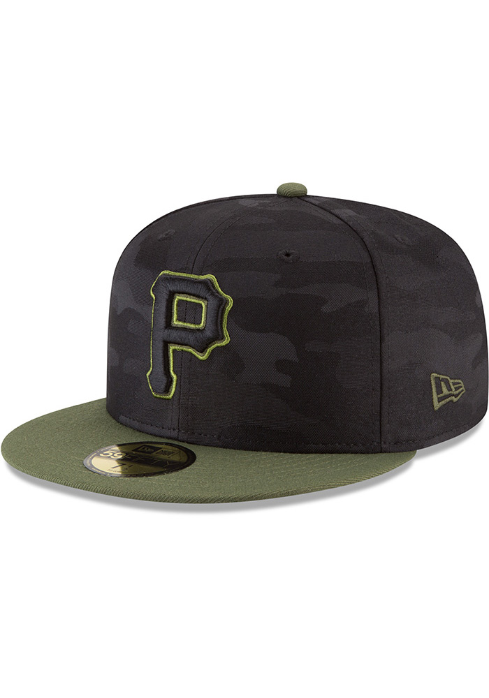 more photos b8f4f 32189 New Era Pittsburgh Pirates Mens Black 2018 Memorial Day 59FIFTY Fitted Hat  - Image 1