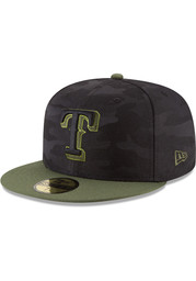 Texas Rangers New Era 2018 Memorial Day 59FIFTY Fitted Hat - Black