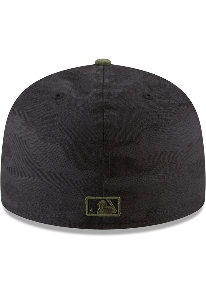 New Era Texas Rangers Mens Black 2018 Memorial Day 59FIFTY Fitted Hat - Image 5