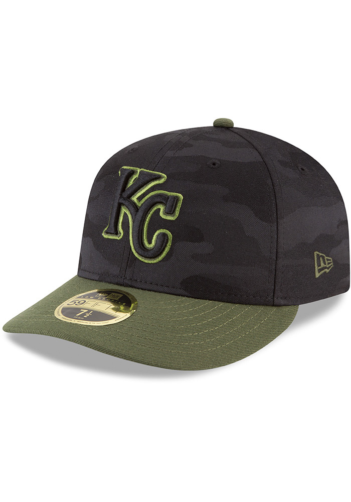 New Era Kansas City Royals Mens Black 2018 Memorial Day LP59FIFTY Fitted Hat - Image 1
