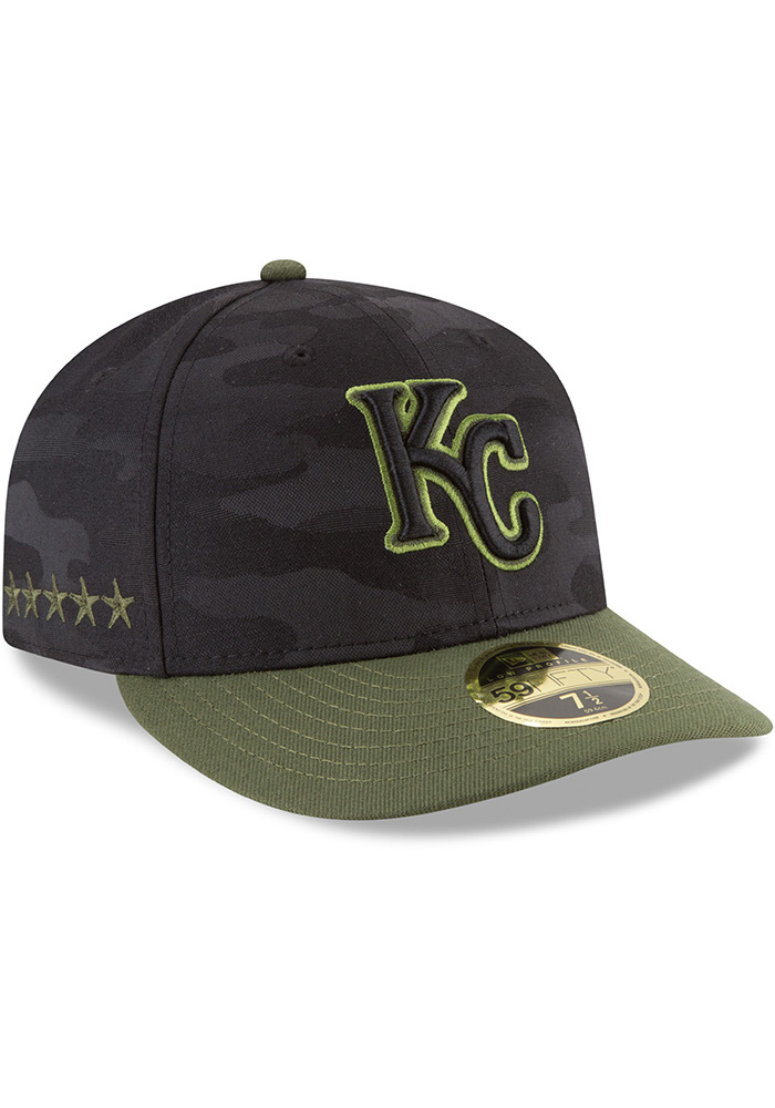 New Era Kansas City Royals Mens Black 2018 Memorial Day LP59FIFTY Fitted Hat - Image 2