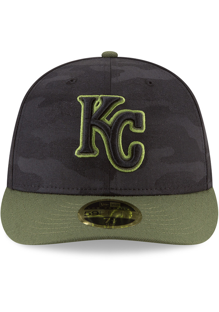 New Era Kansas City Royals Mens Black 2018 Memorial Day LP59FIFTY Fitted Hat - Image 3