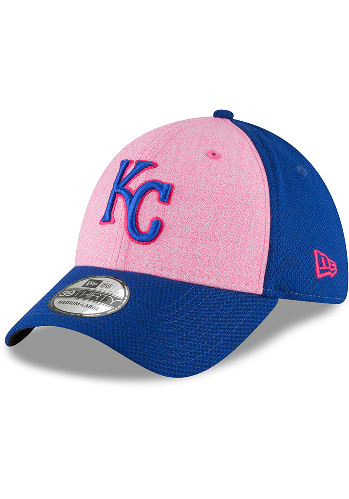 New Era Kansas City Royals Mens Blue 2018 Mother's Day 39THIRTY Flex Hat - Image 1