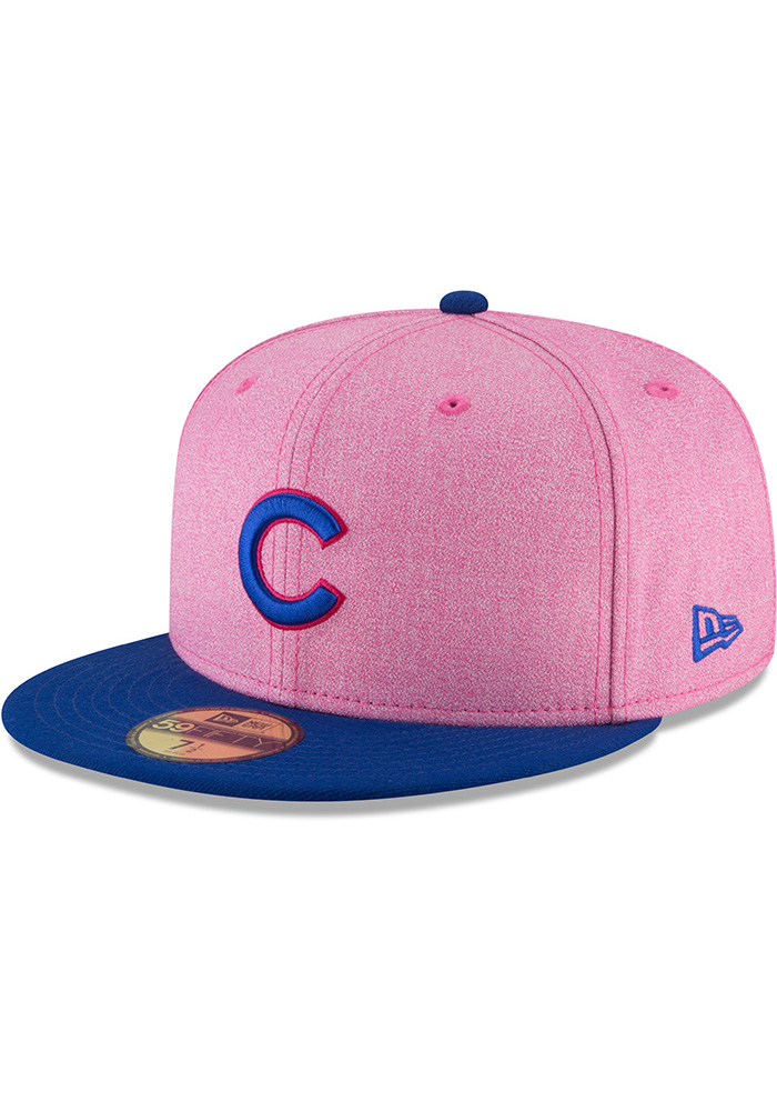 46079634a New Era Chicago Cubs Mens Pink 2018 Mother s Day 59FIFTY Fitted Hat - Image  1