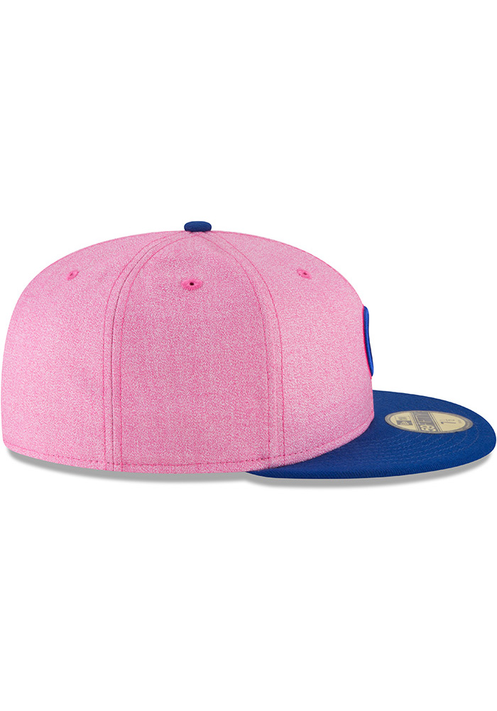 20c3cbcf656 New Era Chicago Cubs Mens Pink 2018 Mother s Day 59FIFTY Fitted Hat - Image  6