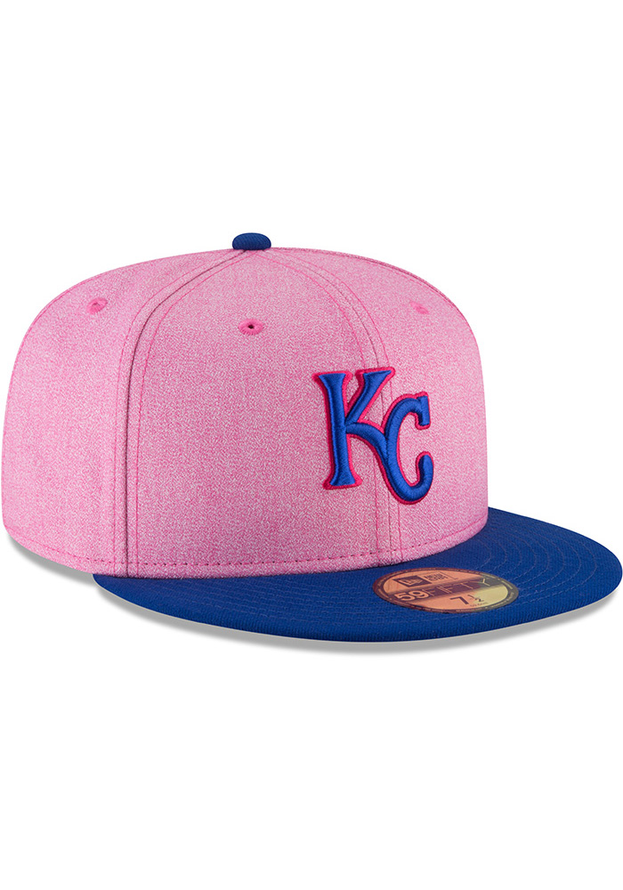 37e53f17 New Era Kansas City Royals Mens Pink 2018 Mother's Day 59FIFTY Fitted Hat