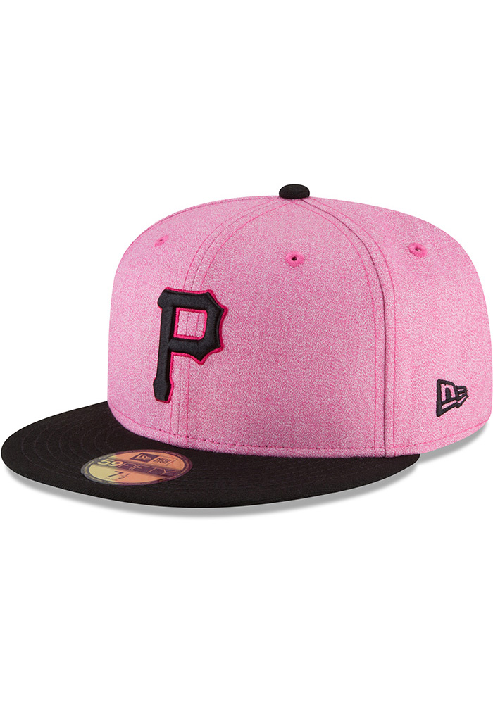 ccf96fb240 New Era Pittsburgh Pirates Mens Pink 2018 Mother s Day 59FIFTY Fitted Hat -  Image 1