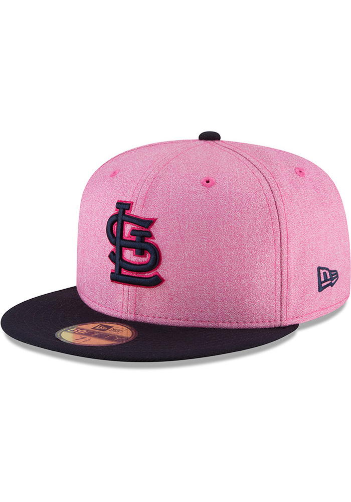 New Era St Louis Cardinals Mens Pink 2018 Mother's Day 59FIFTY Fitted Hat - Image 1