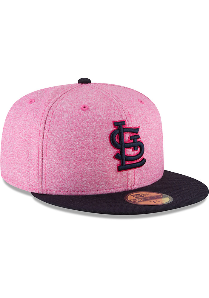 New Era St Louis Cardinals Mens Pink 2018 Mother's Day 59FIFTY Fitted Hat - Image 2