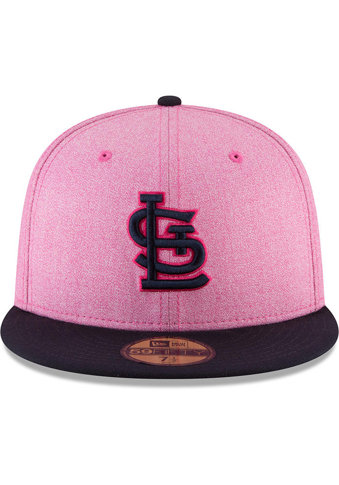 New Era St Louis Cardinals Mens Pink 2018 Mother's Day 59FIFTY Fitted Hat - Image 3