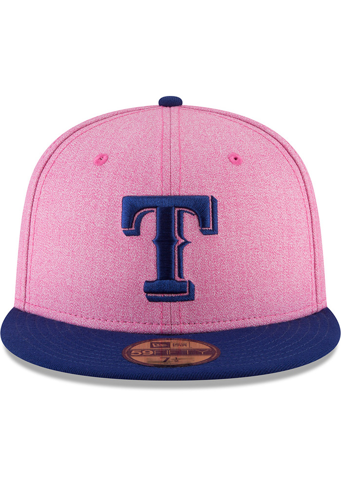 New Era Texas Rangers Mens Pink 2018 Mothers Day 59FIFTY Fitted Hat - Image 3