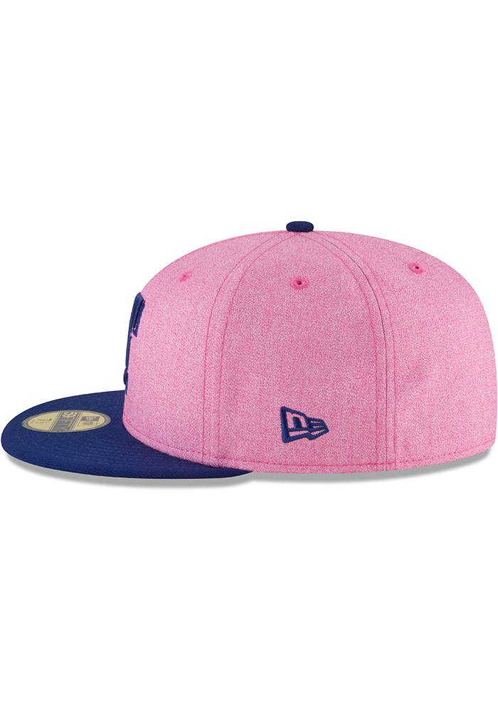 New Era Texas Rangers Mens Pink 2018 Mothers Day 59FIFTY Fitted Hat - Image 4