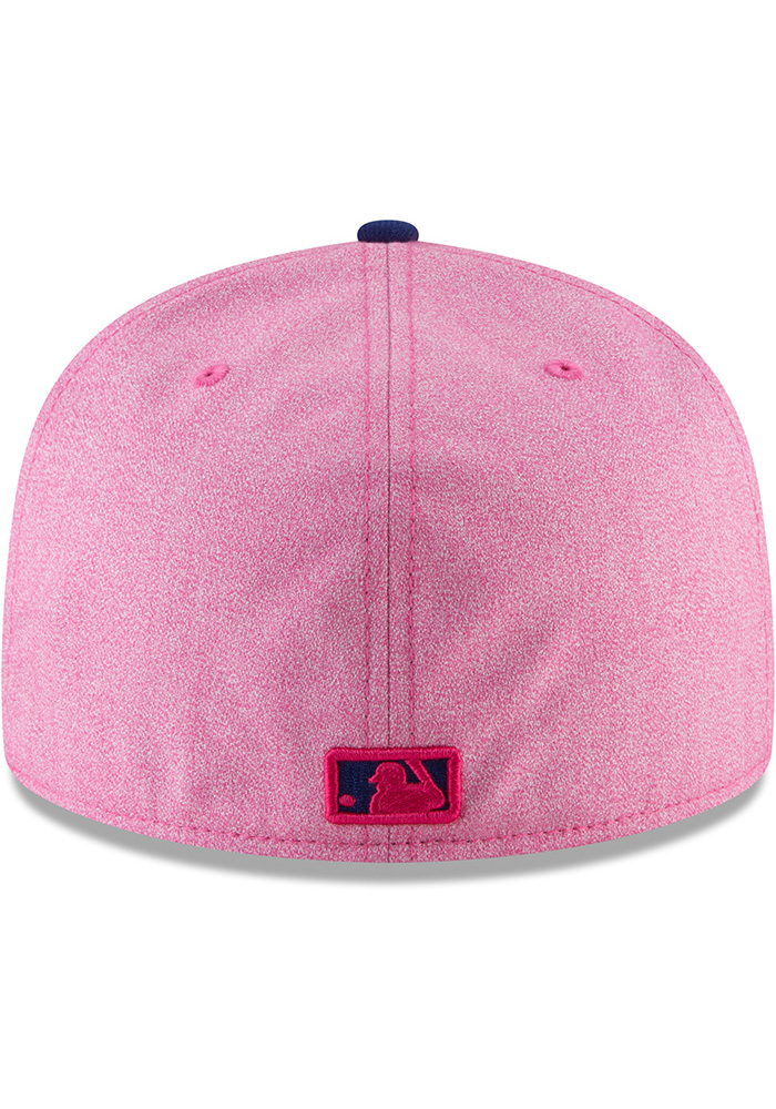 New Era Texas Rangers Mens Pink 2018 Mothers Day 59FIFTY Fitted Hat - Image 5