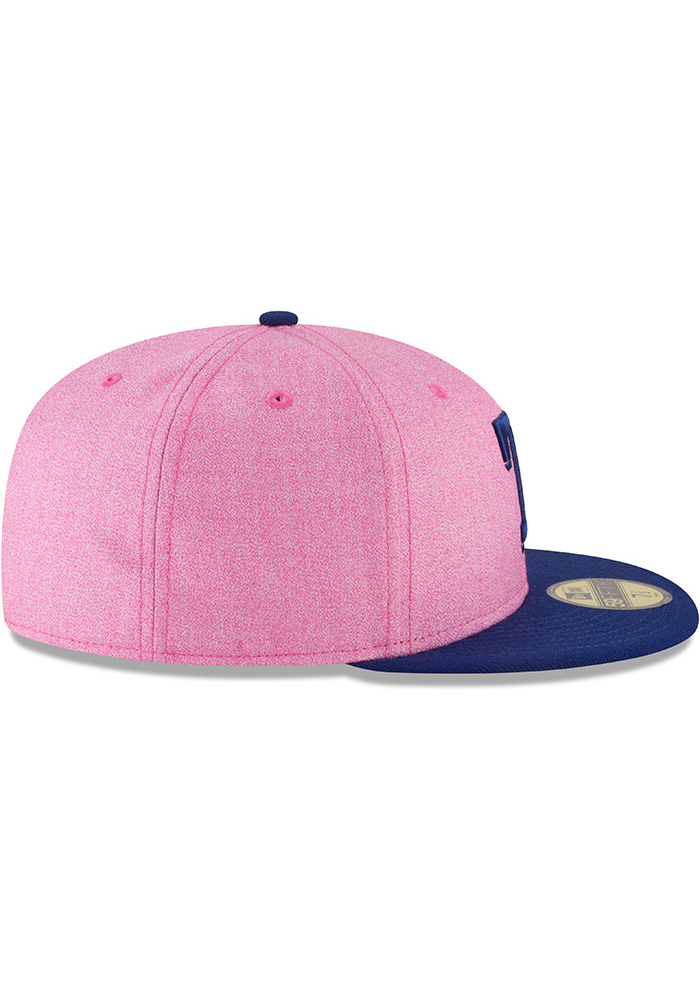 New Era Texas Rangers Mens Pink 2018 Mothers Day 59FIFTY Fitted Hat - Image 6