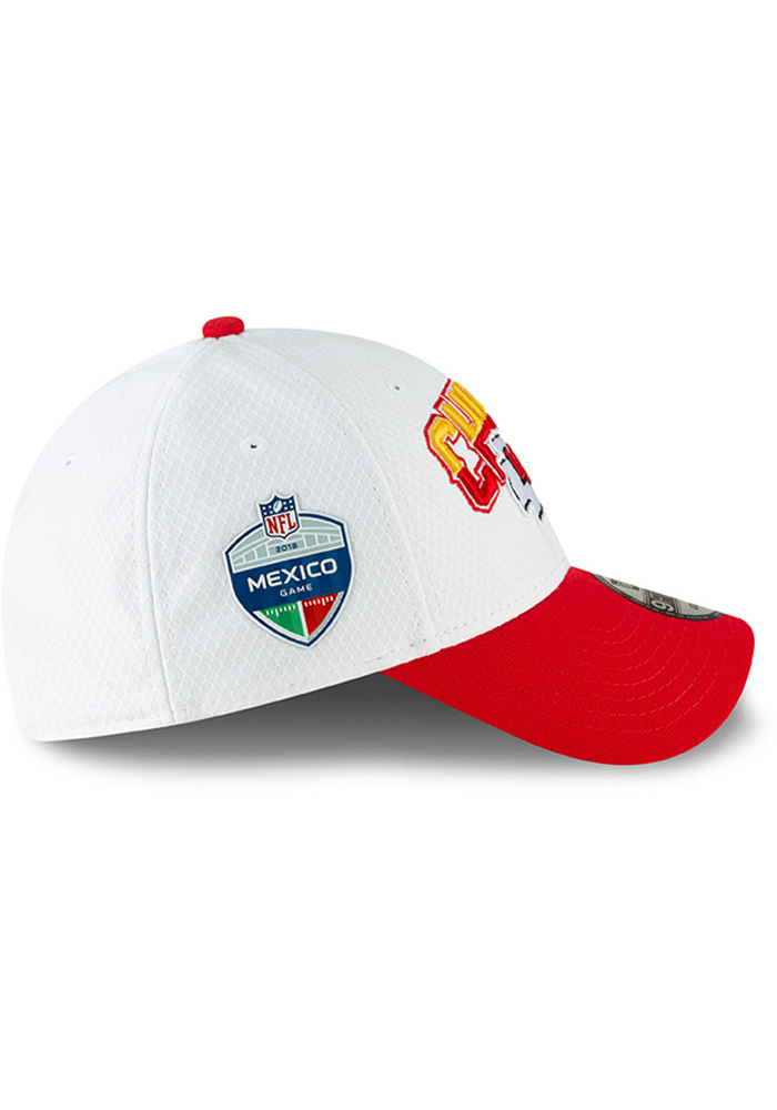 New Era Kansas City Chiefs Mens White KC Chiefs NFL18 Mexico Game 9FORTY  Adjustable Hat - 7582b84f1