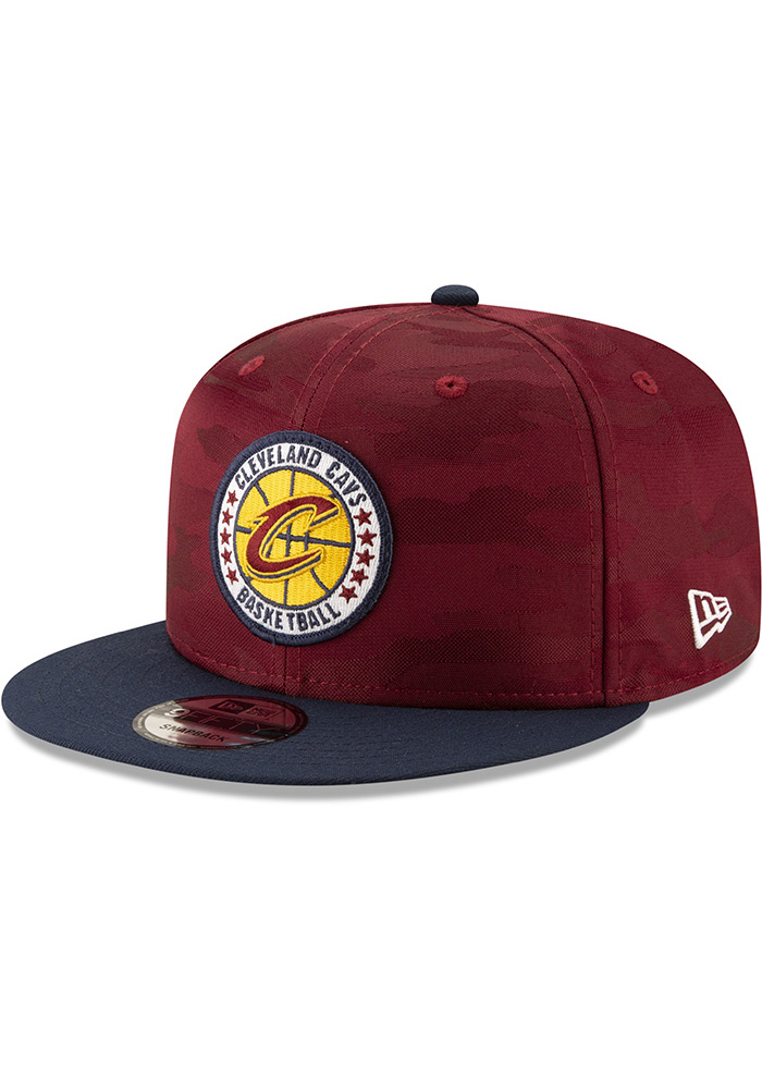 New Era Cleveland Cavaliers Maroon 2018 Tip Off 2T 9FIFTY Mens Snapback Hat - Image 1
