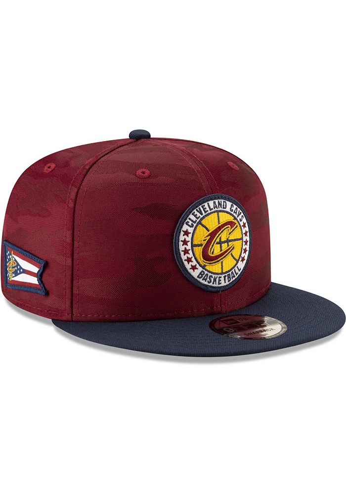 New Era Cleveland Cavaliers Maroon 2018 Tip Off 2T 9FIFTY Mens Snapback Hat - Image 2